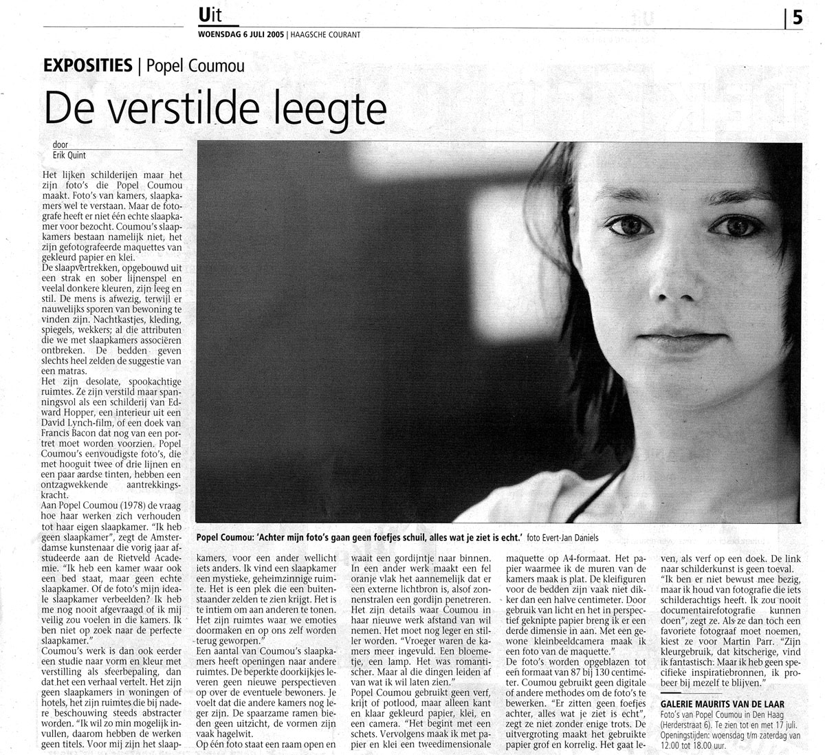 Haagse Courant 6 juli 2005 By Erik Quint